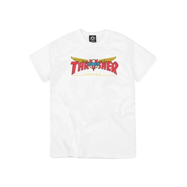 [트래셔 반팔 티셔츠]Venture Collab T-Shirt white [THRASHER]