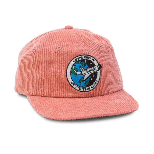쿼터스낵스 볼캡  Sky's The Limit Cap Pink Corduroy  QUARTER SNACKS