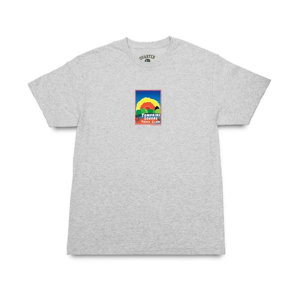 쿼터스낵스 티셔츠  Track Club Postcard Tee Ash Grey  QUARTER SNACKS