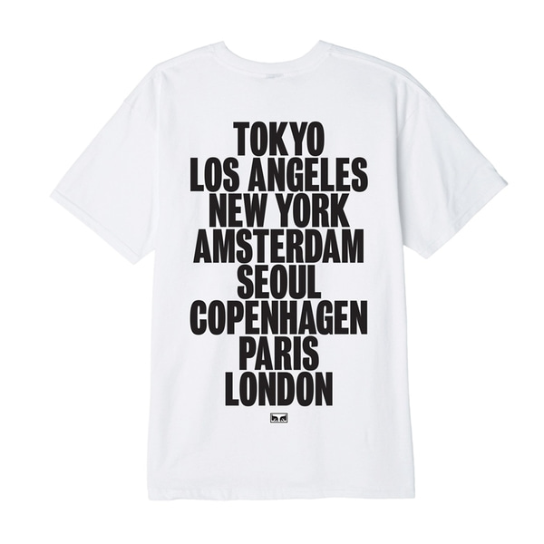 오베이 티셔츠  OBEY INTERNATIONAL CITIES WHITE  OBEY