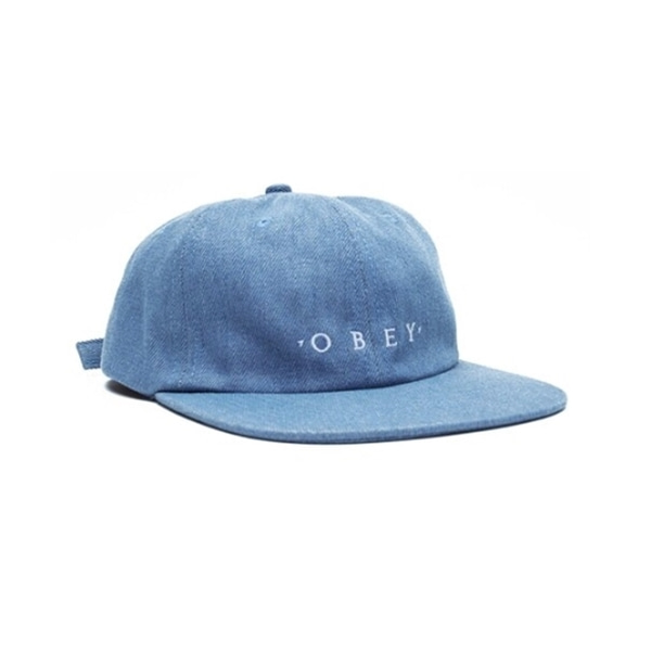 오베이 볼캡  TEMPER 6 PANEL STRAPBACK LIGHT INDIGO  OBEY