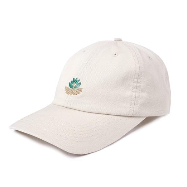 마젠타 스케이트 모자  FIELD PLANT DAD HAT LIGHT BEIGE  MAGENTA SKATEBOARDS