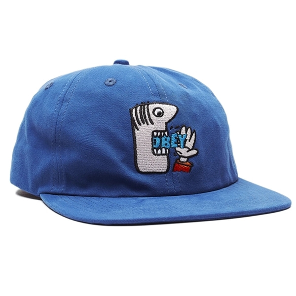 오베이 볼캡  MUNCHIES 6 PANEL STRAPBACK BLUE  OBEY