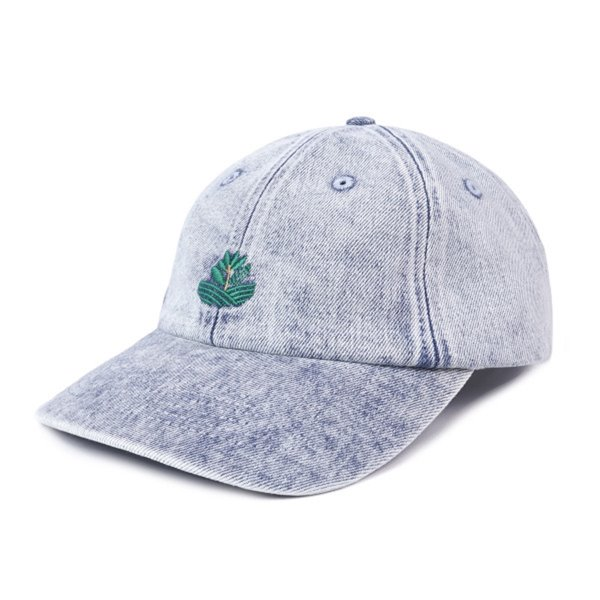 마젠타 스케이트 모자  FIELD PLANT DAD HAT DENIM  MAGENTA SKATEBOARDS