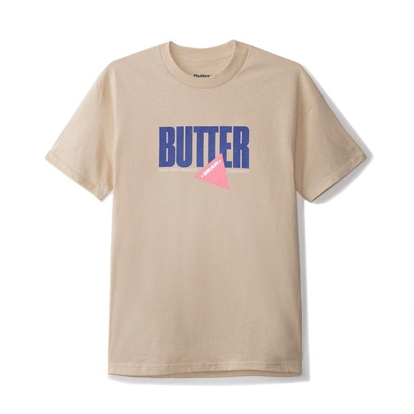버터굿즈 티셔츠  GEAR TEE SAND  BUTTER GOODS