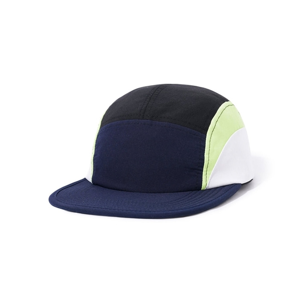 버터굿즈 캠프캡 Cresent Camp Cap Navy Lime White BUTTER GOODS