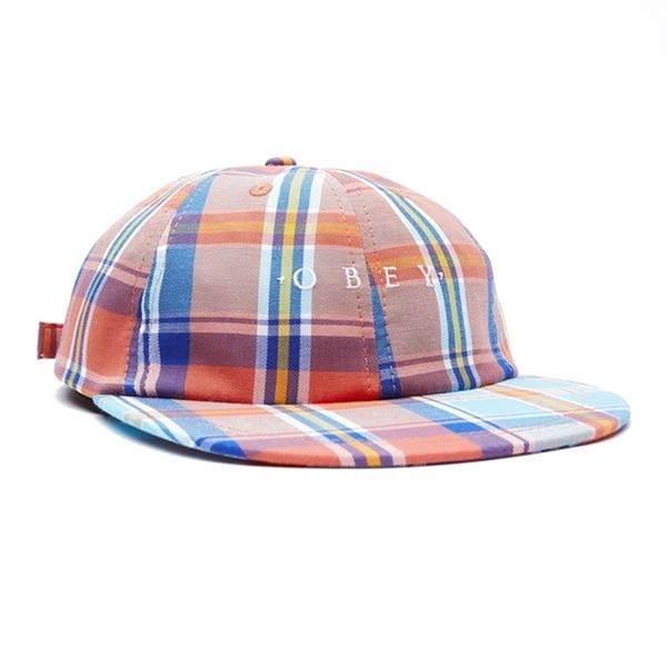 오베이 볼캡  ARTHUR 6 PANEL STRAPBACK TEAL MULTI  OBEY