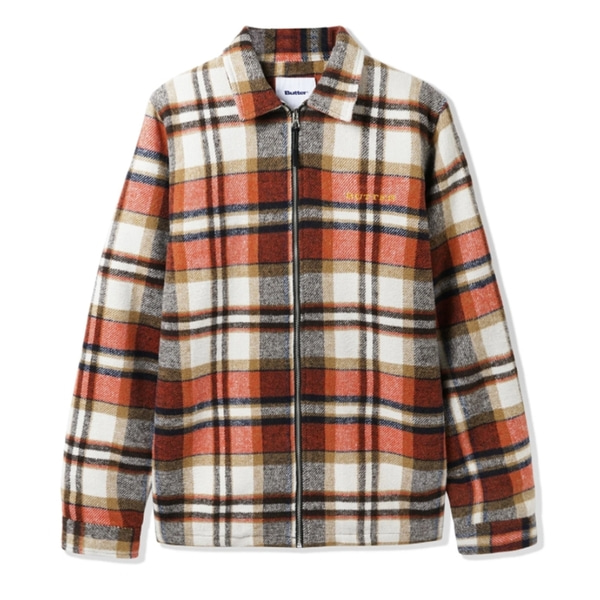 버터굿즈 자켓  FLANNEL PLAID OVERSHIRT NATURAL RUST BROWN  BUTTER GOODS