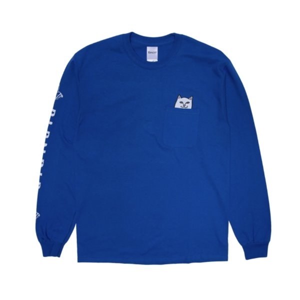 립앤딥 롱슬리브  LORD NERMAL L/S POCKET ROYAL BLUE  RIP N DIP