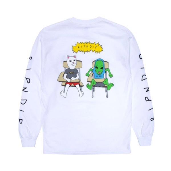 립앤딥 롱슬리브  BUTTS UP L/S WHITE   RIP N DIP