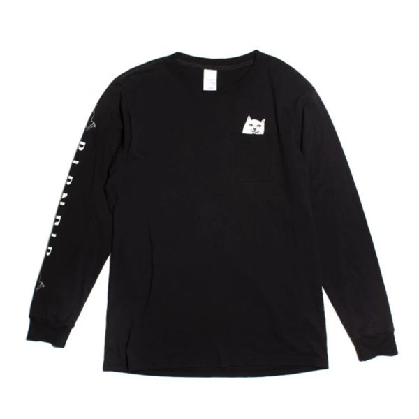 립앤딥 롱슬리브  LORD NERMAL L/S POCKET BLACK  RIP N DIP