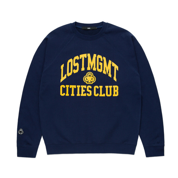 LMC 크루넥  ATHLETIC RAGLAN SWEATSHIRT HEATHER NAVY  엘엠씨