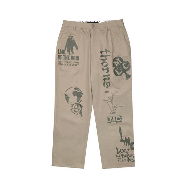 LMC 바지  GRAPHIC PRINTED DESCRIPTION WORK PANTS BEIGE  엘엠씨