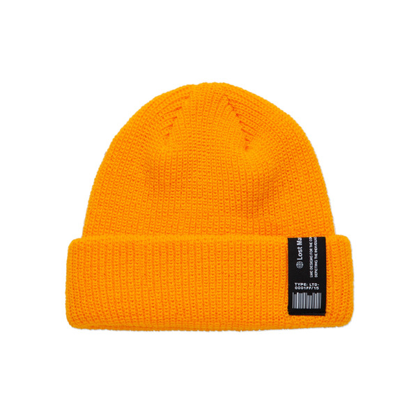 LMC 모자  LABEL SHORT BEANIE YELLOW  엘엠씨