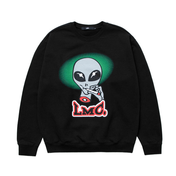 LMC 크루넥  SMOKING ALIEN SWEATSHIRT BLACK  엘엠씨