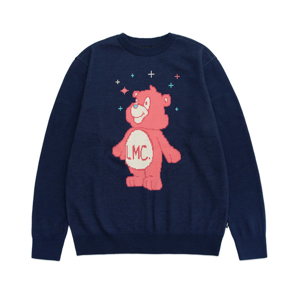 LMC 니트  BEAT KNIT SWEATER NAVY  엘엠씨