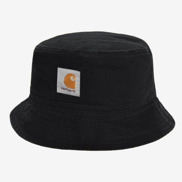 CARHARTT 모자  BANDANA BUCKET HAT REVERSIBLE BLACK WAX STONE WASHED  칼하트