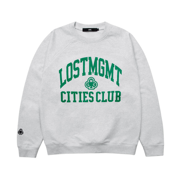 LMC 크루넥  ATHLETIC RAGLAN SWEATSHIRT HEATHER GRAY  엘엠씨
