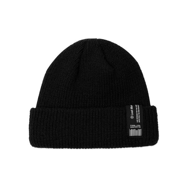 LMC 모자  LABEL SHORT BEANIE BLACK  엘엠씨