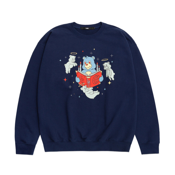 LMC 크루넥  REBIRTH BEAR SWEATSHIRT NAVY  엘엠씨