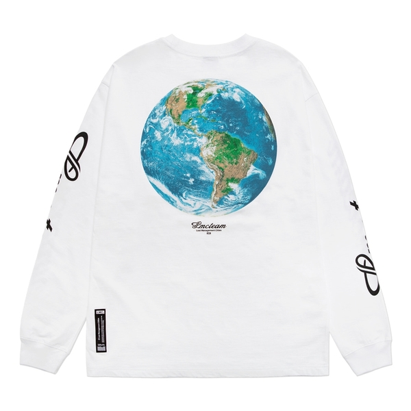 엘엠씨 롱슬리브  TEAM EARTH LOGO SLV WHITE  LMC