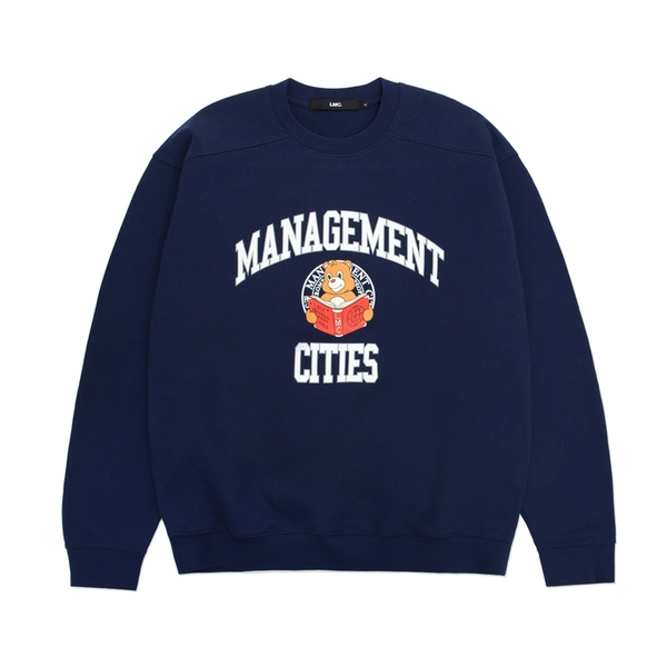 엘엠씨 크루넥  UNIV BEAR SWEARSHIRT NAVY  LMC
