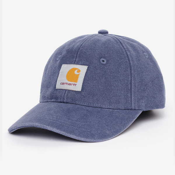 칼하트 모자  CANVAS 6-PANEL CAP COLD VIOLA/WHITE STONE WASHED  CARHARTT WIP
