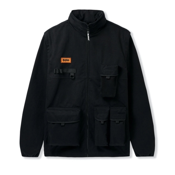 버터굿즈 자켓  EQUIPMENT TECHNICAL JACKET BLACK  BUTTER GOODS