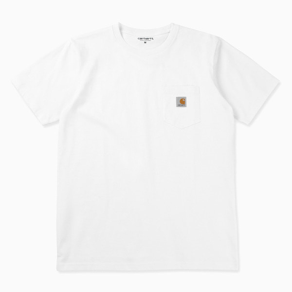 칼하트 티셔츠  POCKET LOOSE T-SHIRT WHITE  CARHARTT WIP
