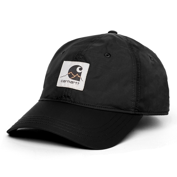 칼하트 모자  OUTDOOR C 6-PANEL CAP BLACK  CARHARTT WIP