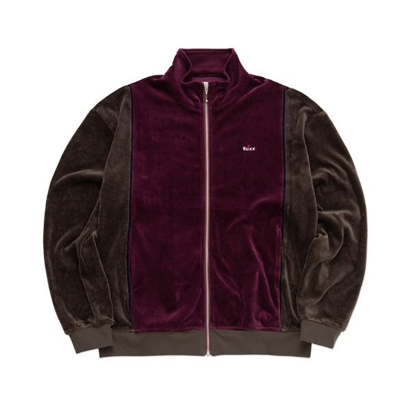 퍼즈 자켓  SOFT VELOUR JACKET BURGUNDY BROWN  FUZZ