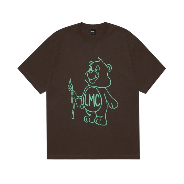 LMC 티셔츠  CANDLE BEAR TEE BROWN  엘엠씨
