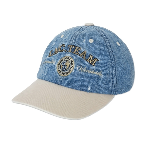 LMC 모자  TWO TONE WASHED DENIM 6 PANEL CAP BLUE  엘엠씨