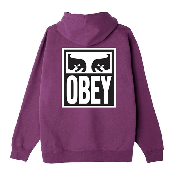 오베이 후드  OBEY EYES ICON 2 PURPLE NITRO  OBEY